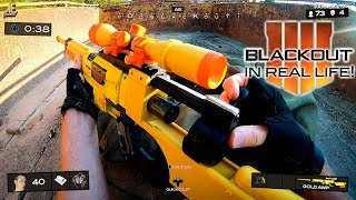Nerf meets Call of Duty: BLACKOUT in real life! (First Person Shooter)