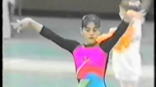 Oksana CHUSOVITINA (URS) floor - 1991 Chunichi Cup