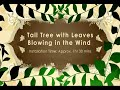 Dalí Adhesivos de pared - árbol alto con hojas que vuelan en la instalación del viento
