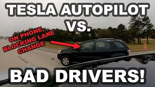 Tesla Autopilot vs. Bad Drivers! (GoPro MAX)