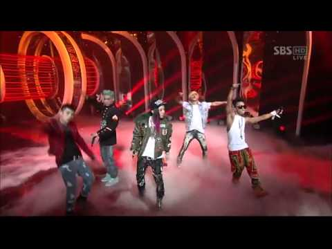 Big Bang - Intro (Alive) + Blue + Bad Boy + Fantastic Baby [SBS Inkigayo 120311]