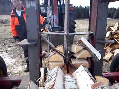 Homemade Log Splitter 30 Ton Youtube