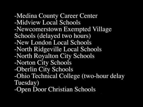 Northeast Ohio School Closings and Delays: March 14, 2017