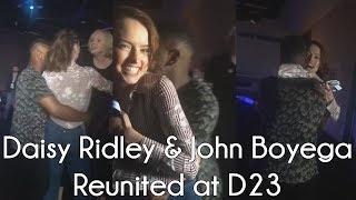 Daisy Ridley & John Boyega Reunited at D23