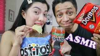 ASMR Tostitos and Doritos (Crispy or Crunchy?)