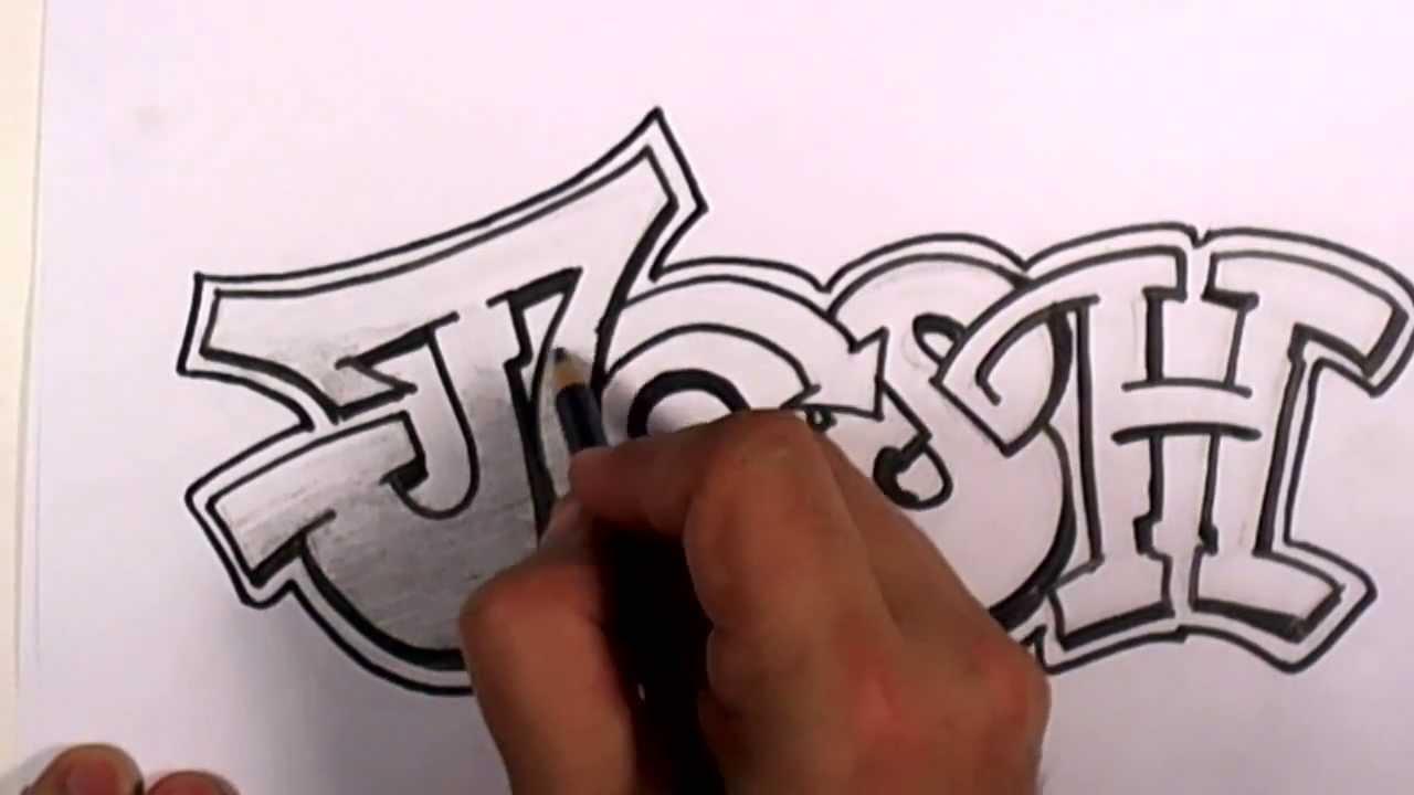 Name Drawings: Graffiti Writing Josh Name Design