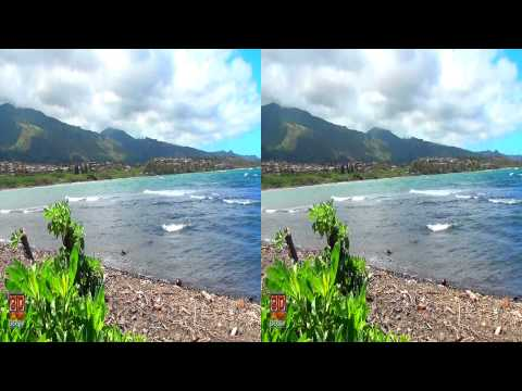 3D Video extreme!!! (evo 3D Works) 3D Ocean View Hawaii Nature Scene 3D Video