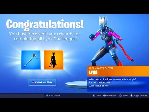 The Max LYNX SKIN in Fortnite.. (New Stage 4 Lynx Back Bling)