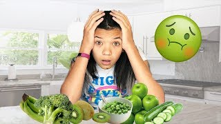 I ONLY ate GREEN food for 24 HOURS! IMPOSSIBLE