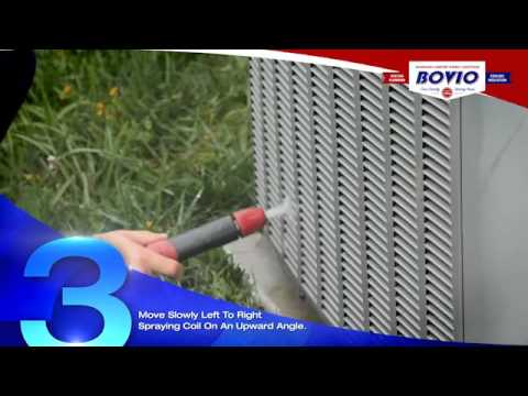 Washing an Air Conditioning Condenser | Bovio