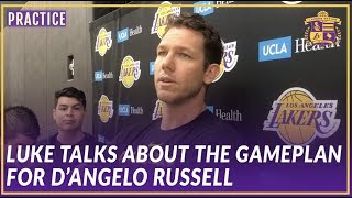 Lakers Practice: Luke Talks About the Gameplan For D'angelo Russell and gives Injury Updates