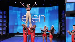 Kendall Jenner & Average Andy Learn a Routine from the 'Cheer' Squad