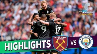 West Ham United vs. Manchester City: 0-5 Goals & Highlights | Premier League | Telemundo Deportes