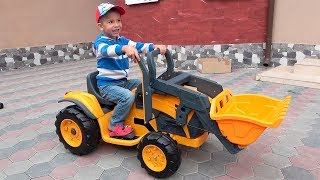 Unboxing and Assembling The POWER Wheel / Kids Ride on Excavator / Baby Car - YouTube
