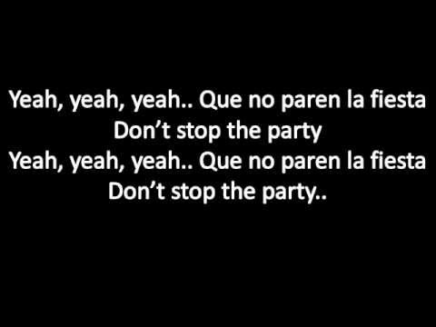Baixar Pitbull ft TJR don't stop the party lyrics
