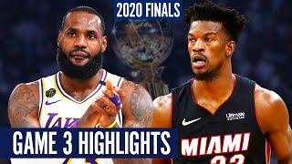 HEAT vs LAKERS GAME 3 - Full Highlights | 2020 NBA Finals