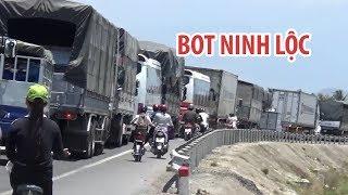 Kẹt xe kéo dài, BOT Ninh Lộc xả trạm