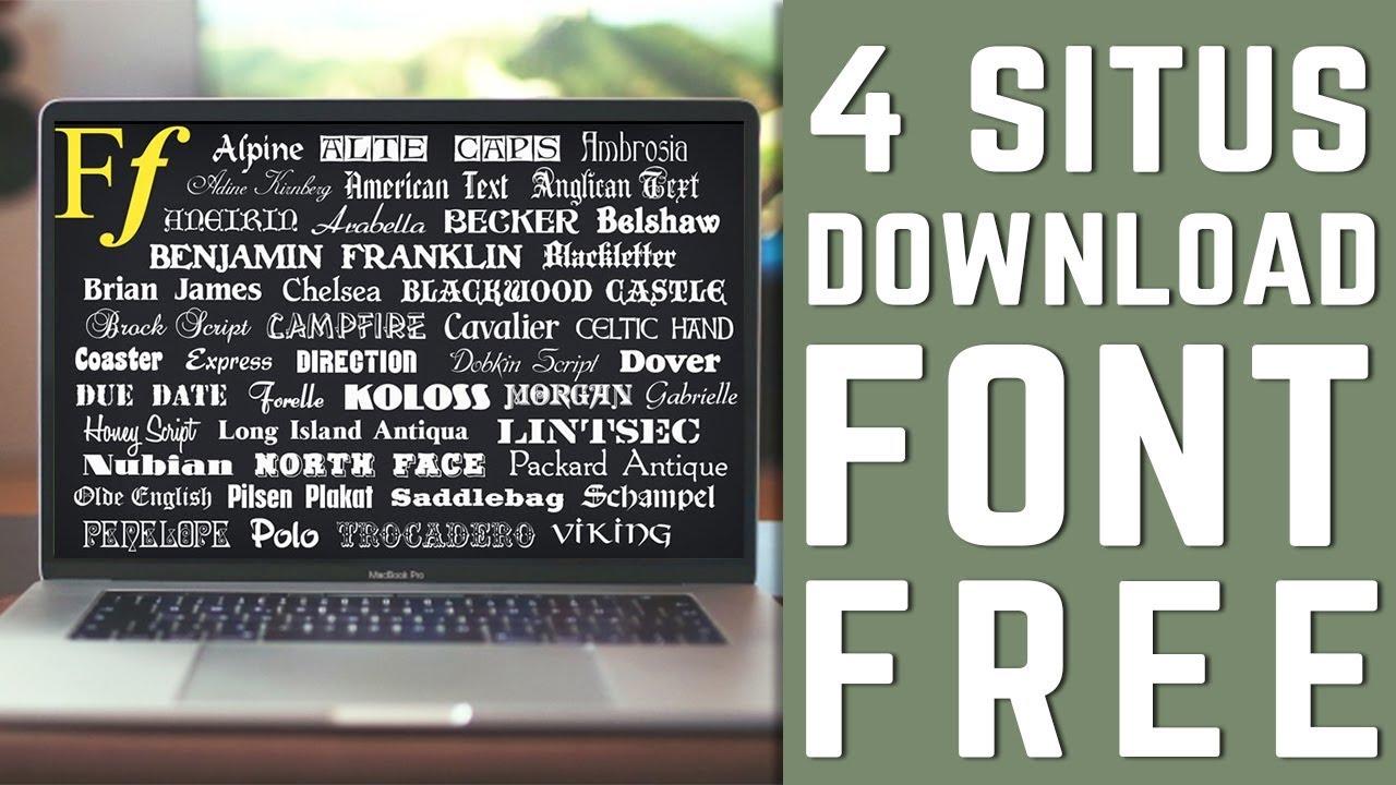 Rekomendasi 4 Situs Download Font (FREE)