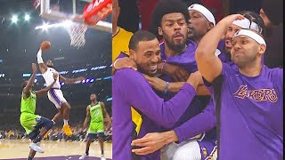 LeBron James SHOCKS Lakers After Destroying Gorgui Dieng With Crazy Dunk! Lakers vs Timberwolves
