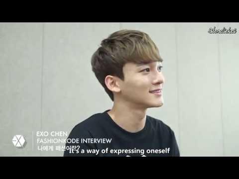 [ENG SUB/1080P] 140717 Fashion KODE 2014 Embassador EXO CHEN Interview by Blondiekai