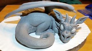 Polymer Clay Dragon Timelapse