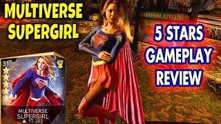 Injustice 2 Mobile. Unlocking 5-STARS Multiverse Supergirl! Gameplay, Review. MY FAVORITE SUPERGIRL!