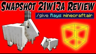 Goats and Light Item! 1.17 Minecraft Cave Update (21w13a Review)