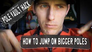 Pole Vault Hack   How to Jump on Bigger Poles   Team Hoot pole vault