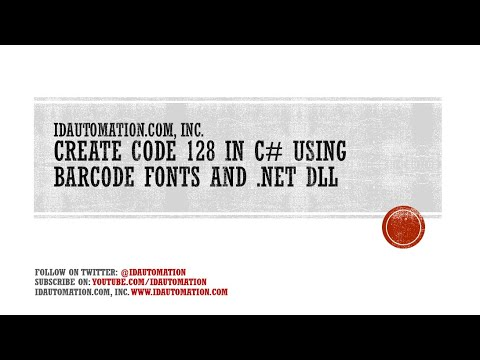 How to Create a Code 128 Barcode in C# using the Barcode Fonts and the  NET Assembly Font Encoder