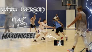 Whit3 Iverson VS Maxisnicee! Intense 5v5 Basketball at Jlaw Influncer Runs!