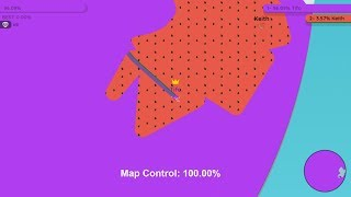 Paper.io 2 Map Control: 100.00%