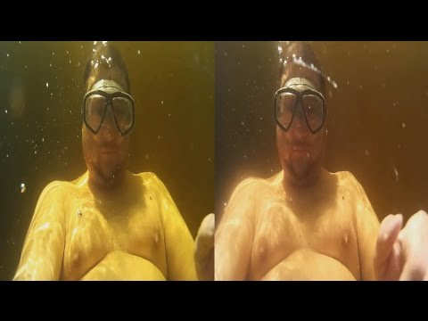 3D VIDEO ! The first dive! UNDERWATER chaos in 3D!