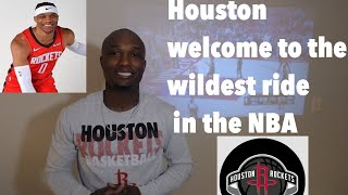 Houston Rockets Welcome to the Russell Westbrook Experience