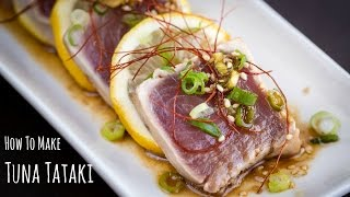 How to Make Tuna Tataki