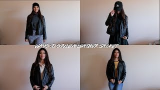 How To Style: Leather Jacket 5 WAYS