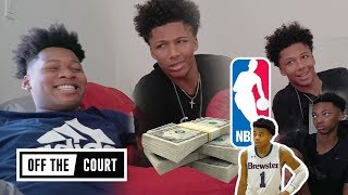 Mikey Williams & Jahzare Jackson Talk Blue Chips BEATING A College Team! Jah Got Mikey SHOOK 😭