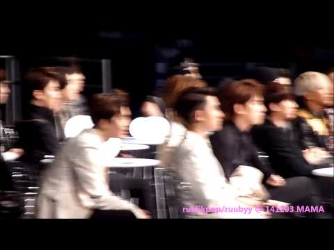 141203 MAMA in Hong Kong - EXO waiting Album of Year to be announced + Reaction to Win!!!