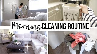 RELAXING MORNING CLEANING ROUTINE // Laundry Routine For Family Of 5