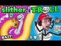 SLITHER.itrOll ☠ TRAP BAIT & TROLL FACE! Duddy's Slither.io #9 & Toilet Success Games (FGTEEV 2in1)