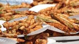 Matt Stonie vs Joey Chestnut   Deep Fried Asparagus 2014