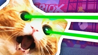 Roblox | GIANT LASER EYES CAT ATTTACK!!