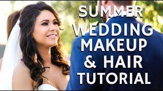 Summer Bridal Wedding Makeup & Hair Full Glam Tutorial | mathias4makeup