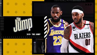 Describing the role Carmelo Anthony will play with LeBron and the Lakers | The Jump