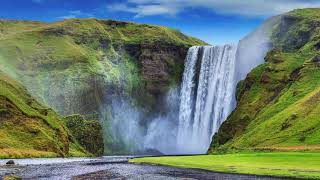 Beautiful Piano Music for Stress Relief, Calming Piano Music, Waterfall, Calm Chords, Soothing Music