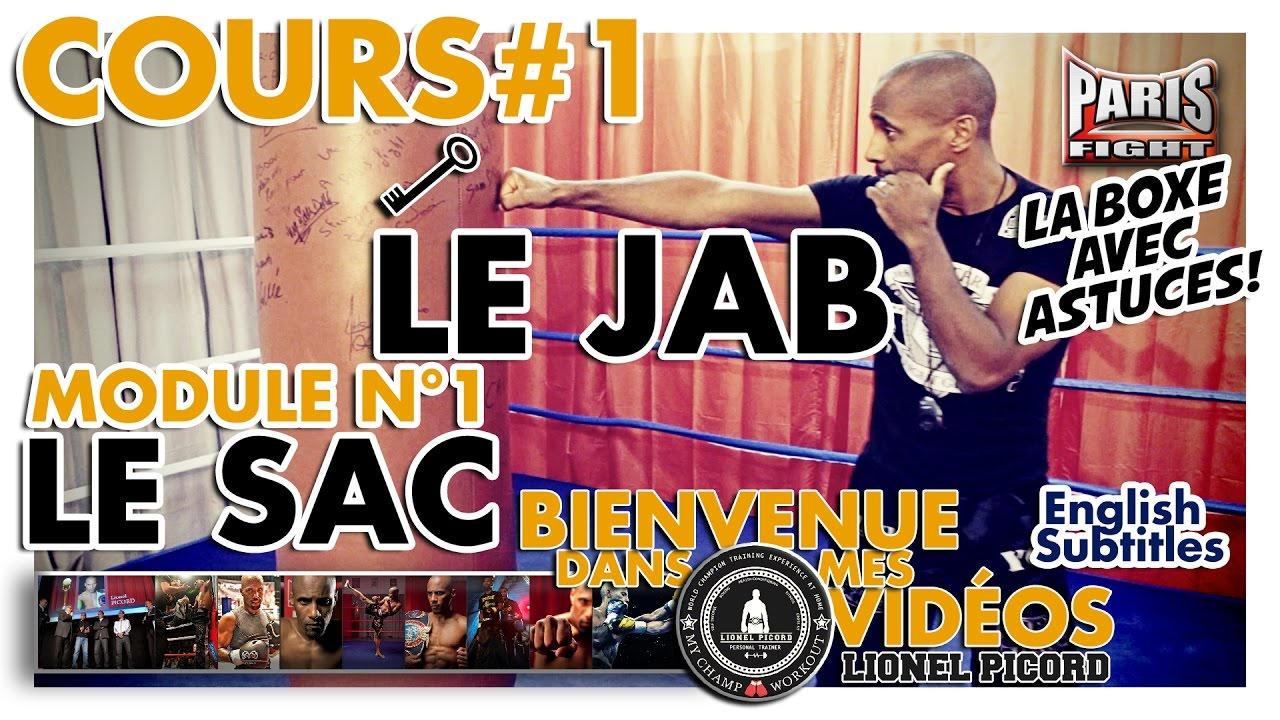 BOXE COURS N°1 : LE JAB par LIONEL PICORD - (English Subtitles) BDMV !!!!