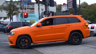 Offset's Orange TrackHawk Jeep 900HP, Turo Crashed Supra. *LOUD*