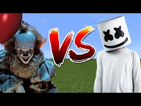 IT vs Marshmello | Minecraft PE