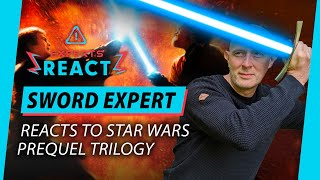Sword Expert Reacts To Star Wars The Prequel Trilogy | Lightsaber Fight Scenes