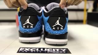 "Air Jordan III Retro ""Powder Blue"" Unboxing Video at Exclucity"