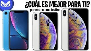 iPhone XR vs iPhone XS / Xs Max CUAL DEBES COMPRAR ?